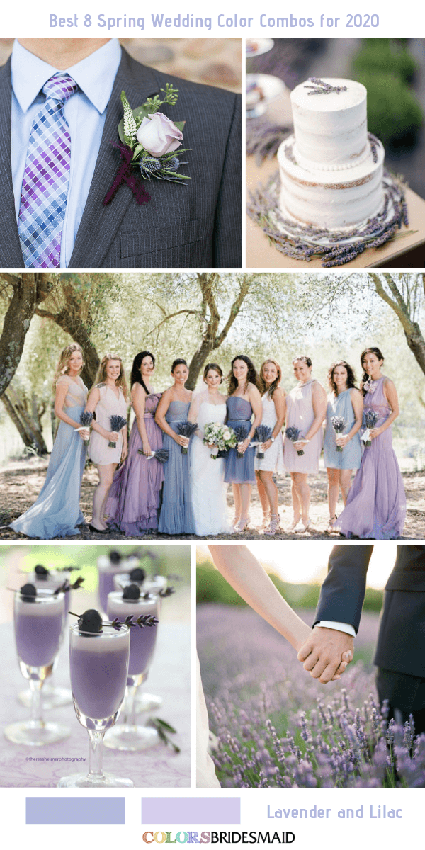 Best 8 Spring Wedding Color Combos For 2020 Colorsbridesmaid
