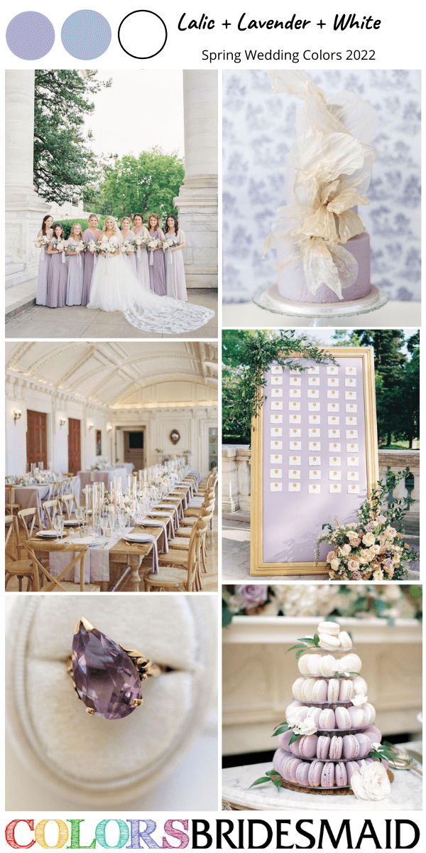 Spring Wedding Colors 2022 Lilac Lavender and White