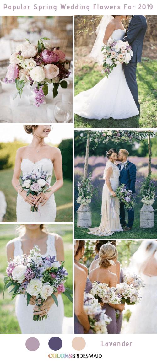 8 Popular Spring Wedding Flowers Color Ideas for 2019 - Lavender