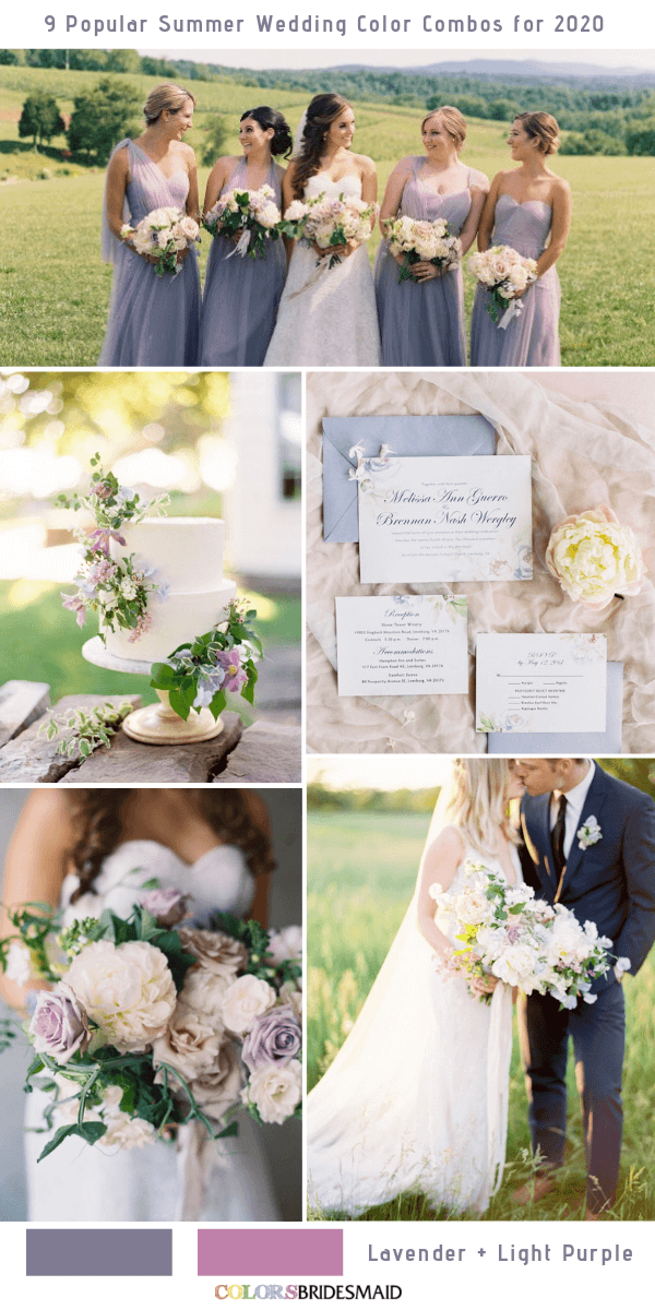 Popular Summer Wedding Color Combos for 2020- Lavender and Light Purple