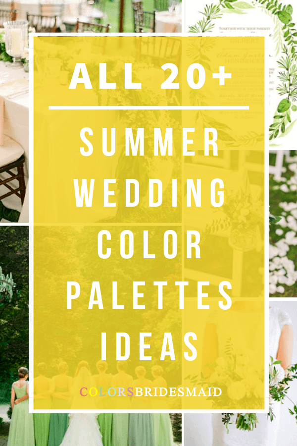 all summer wedding color palettes