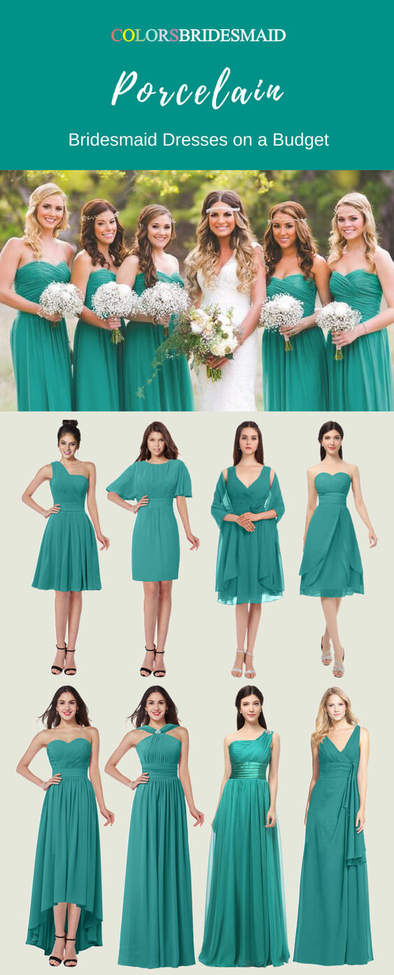 The Most Welcomed Bridesmaid Dresses in Porcelain Color