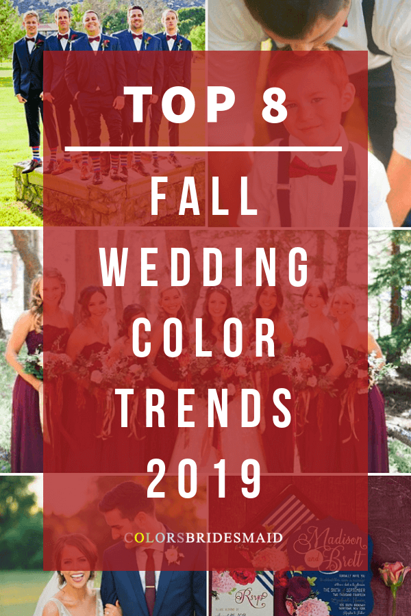 fall wedding color trends and ideas for 2019.