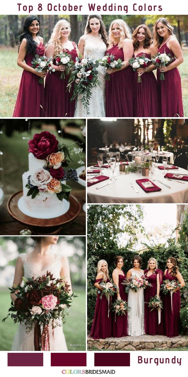 Classic Burgundy October Wedding Color Inspirations Colorsbridesmaid