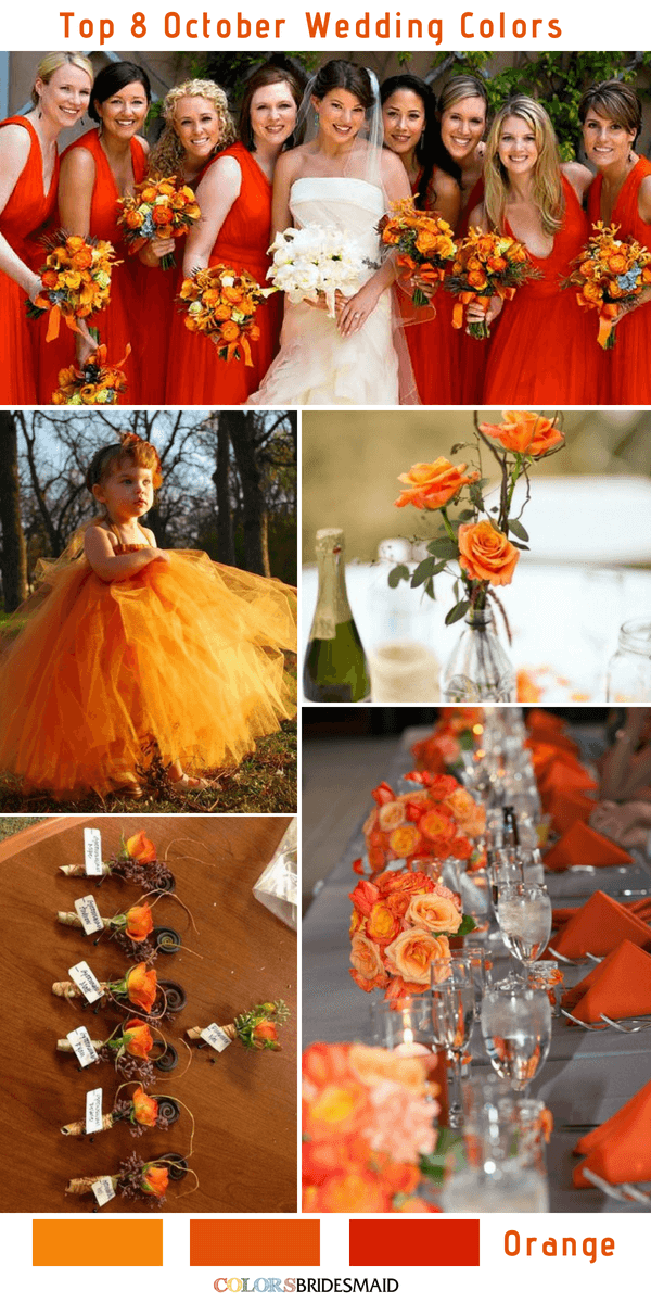 Top 8 October Wedding Colors To Steal Colorsbridesmaid