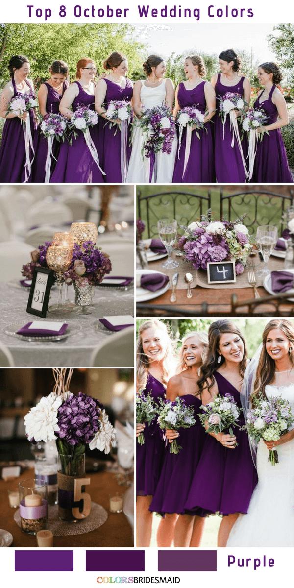 All 20 Purple Wedding Color Palettes Colorsbridesmaid