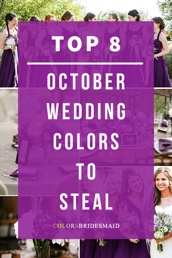 october wedding colors