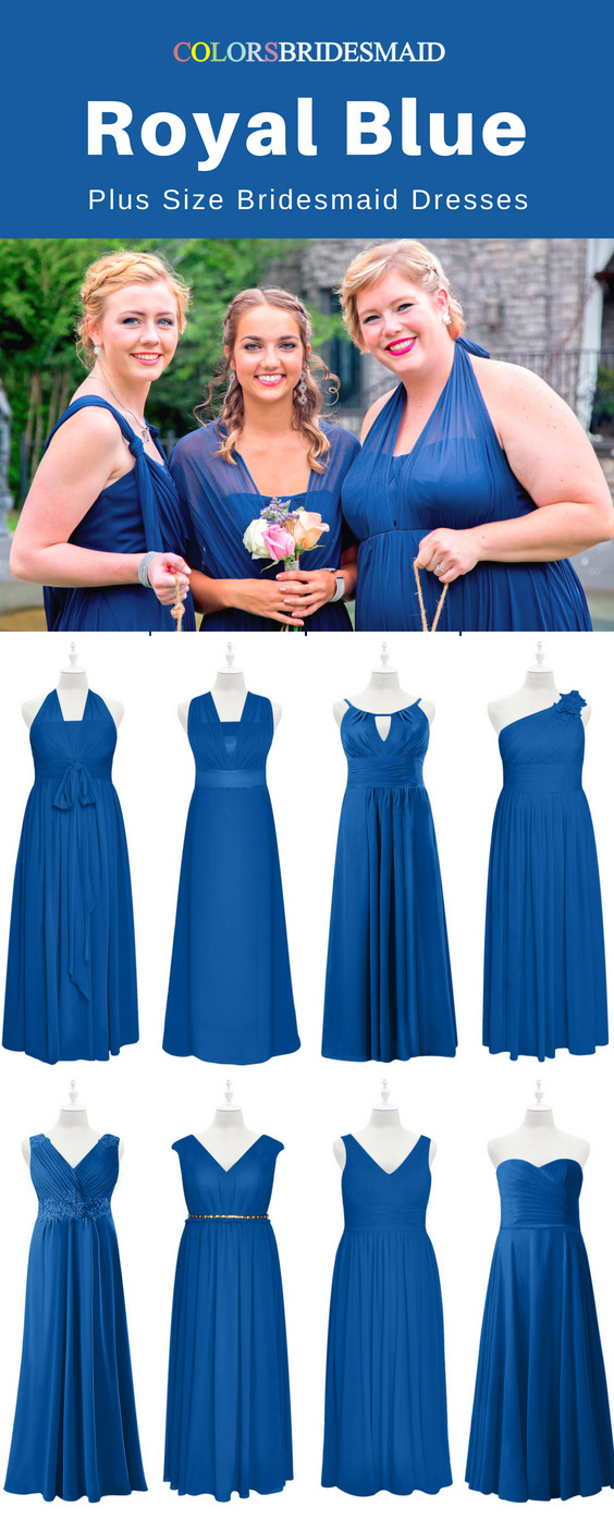 Top 8 Plus Size Royal Blue Bridesmaid Dresses To Flatter You