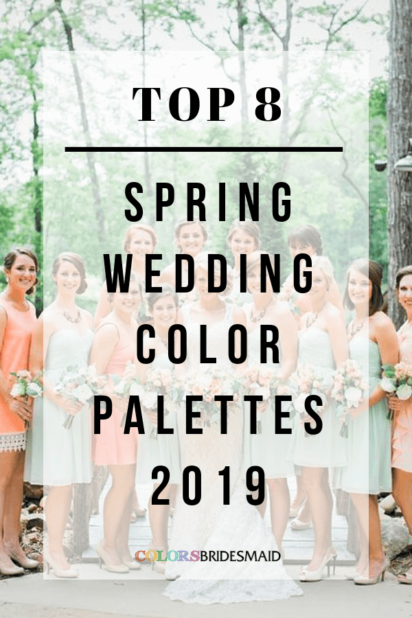 2019 spring wedding color palettes