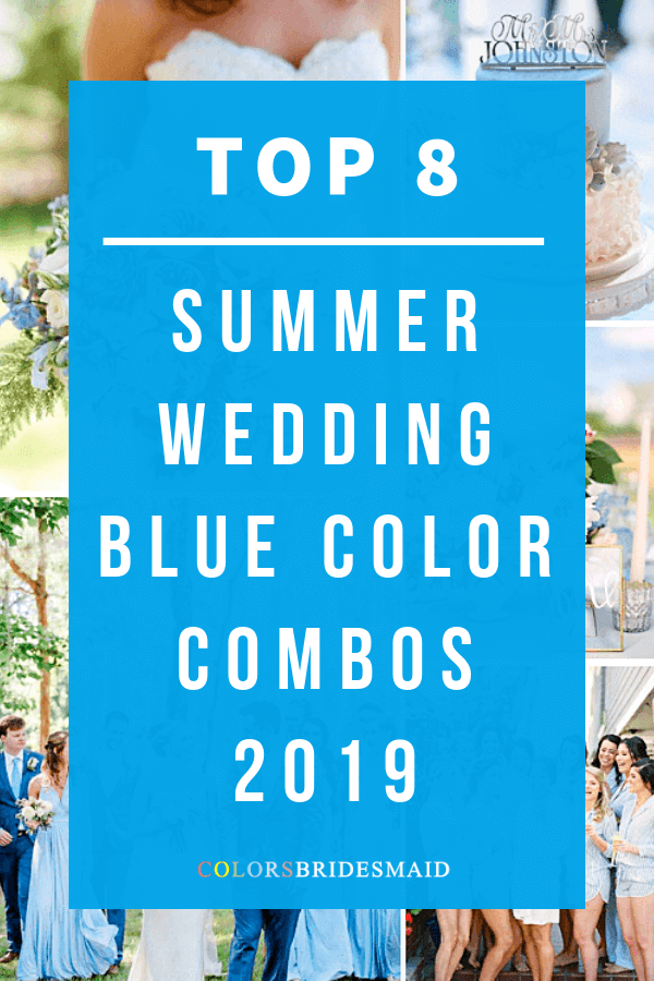 summer wedding color in shades of blue for 2019