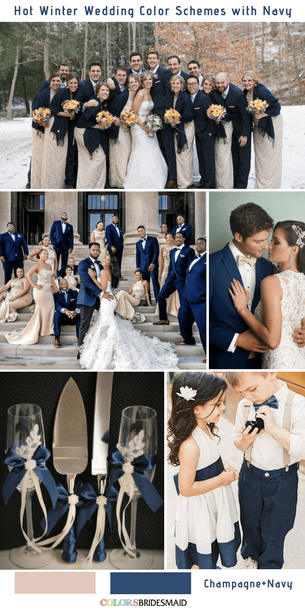 9 Gorgeous Navy Blue Winter Wedding Color