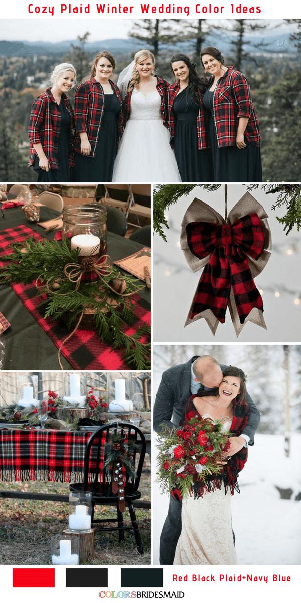 Christmas Wedding Colors.Cozy Plaid Winter Wedding Colors Inspiration 5 Plaid