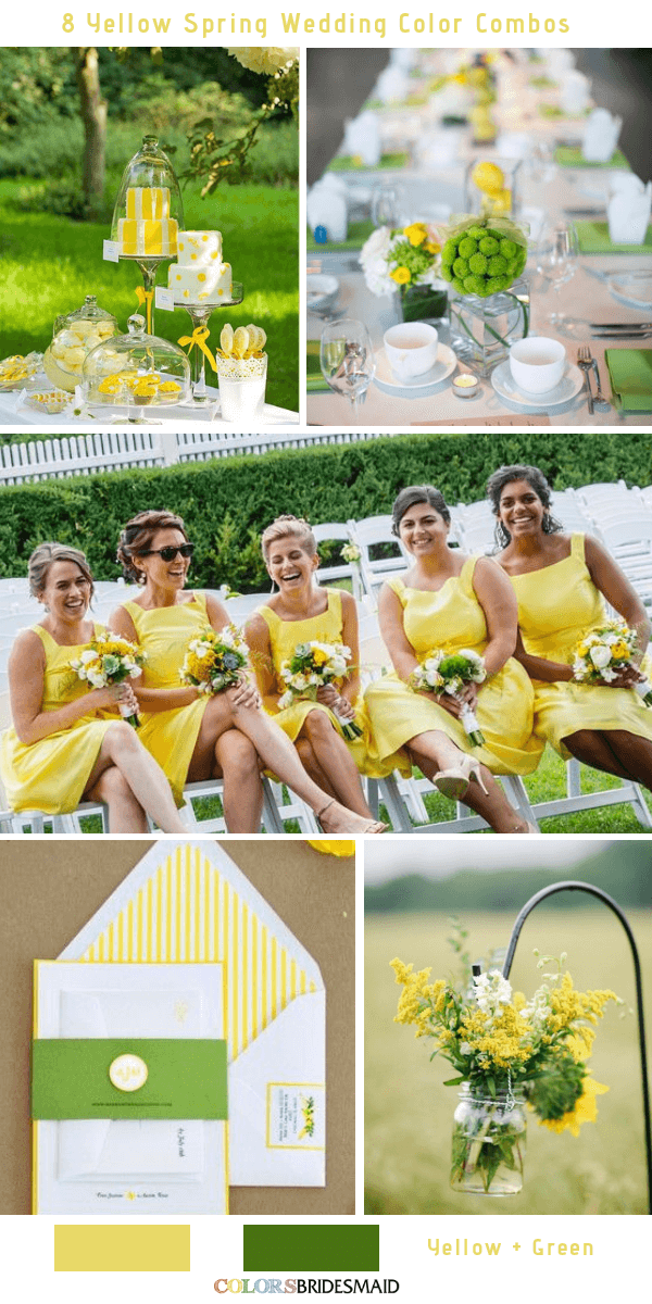 9 Gorgeous Yellow Spring Wedding Color Combos -  Yellow and Green