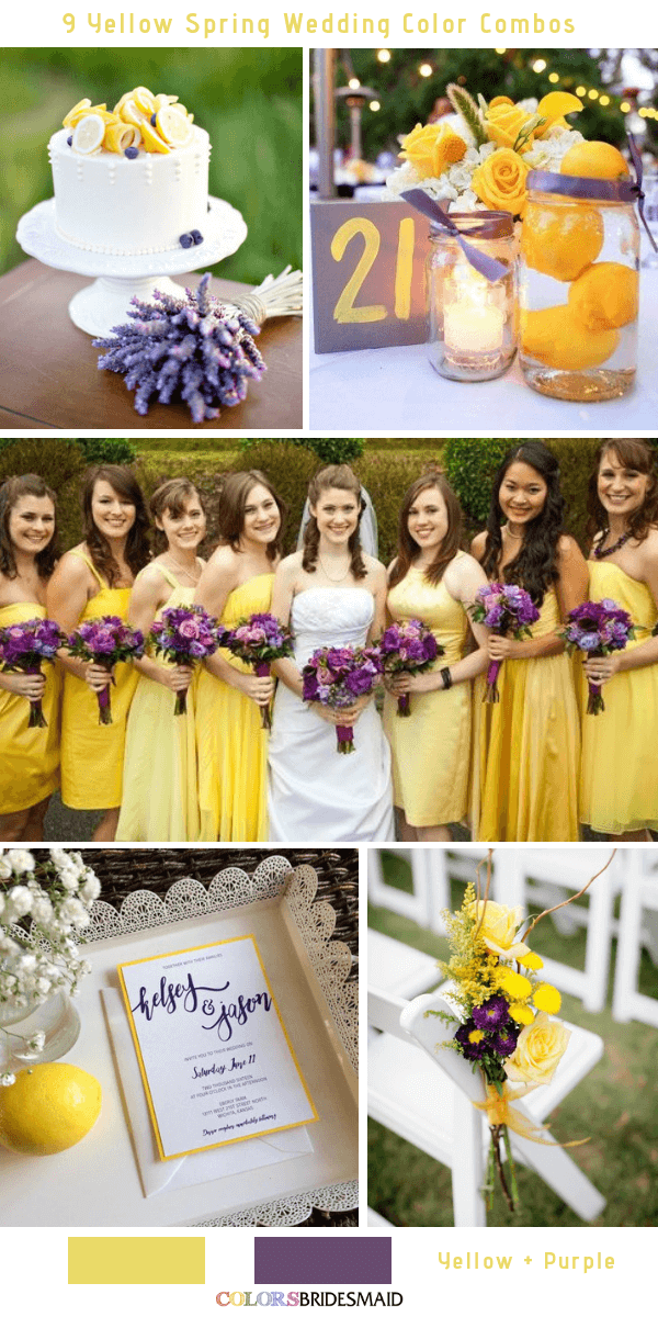 9 Gorgeous Yellow Spring Wedding Color Combos -  Yellow and Purple